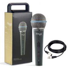 Stagg SDM60 Pro Vocal + Instrument Microphone + Mic Case + Lead + 2Yr Warranty